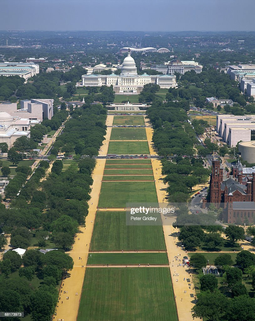 The Mall and US Capitol building, Washington, DC : Stock Photo