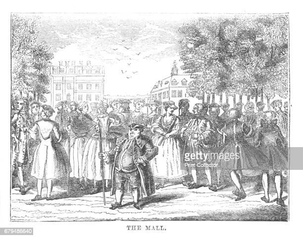 The Mall', c1870. The Mall is a road in the City of Westminster, central London, between Buckingham Palace at its western end and Trafalgar Square...