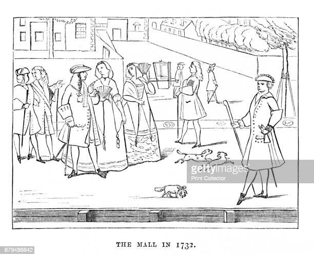 The Mall in 1732', 1870. The Mall is a road in the City of Westminster, central London, between Buckingham Palace at its western end and Trafalgar...