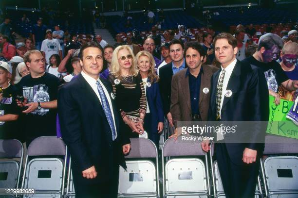The Maloof Family poses during a game played between the Utah Jazz and the Sacramento Kings at the Arco Arena in Sacramento, California on May 13,...