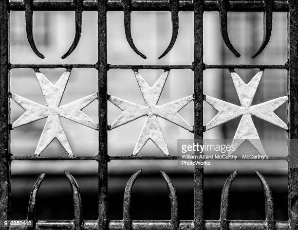 the maltese cross - maltese cross stock photos and pictures