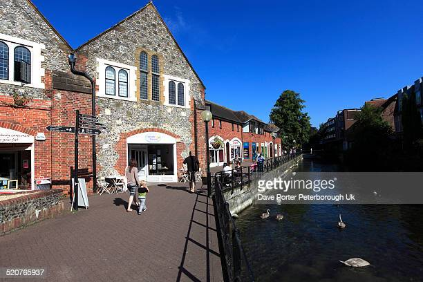 The Maltings shops and buildings river Anton