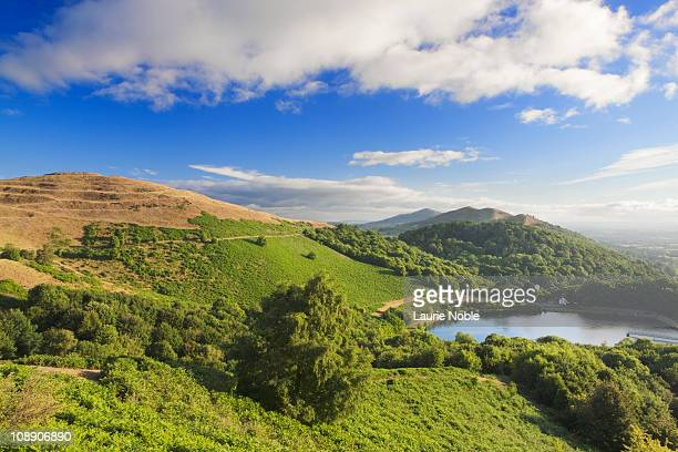 the malvern hills; worcestershire; cotswolds - worcestershire stock pictures, royalty-free photos & images