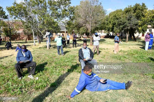 The Mamelodi Hostels residents during Minister of Human Settlements, Water and Sanitation Lindiwe Sisulu visits Mamelodi Hostels to inspect Temporary...