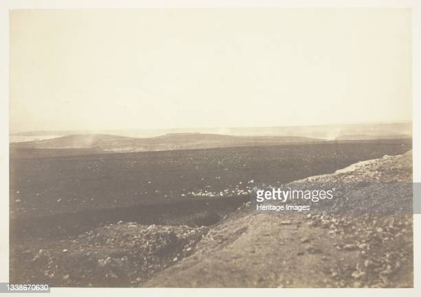 The Mamelon and Malakoff, from the Mortar Battery, 1855. A work made of salted paper print, from the album 'photographic pictures of the seat of war...
