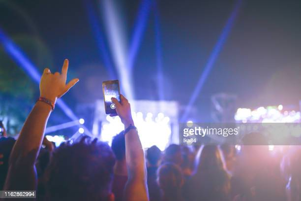 the man at the festival - electronic music stock pictures, royalty-free photos & images
