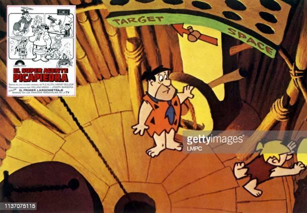 The Man Called Flintstone lobbycard Fred Flinstone Barney Rubble 1966