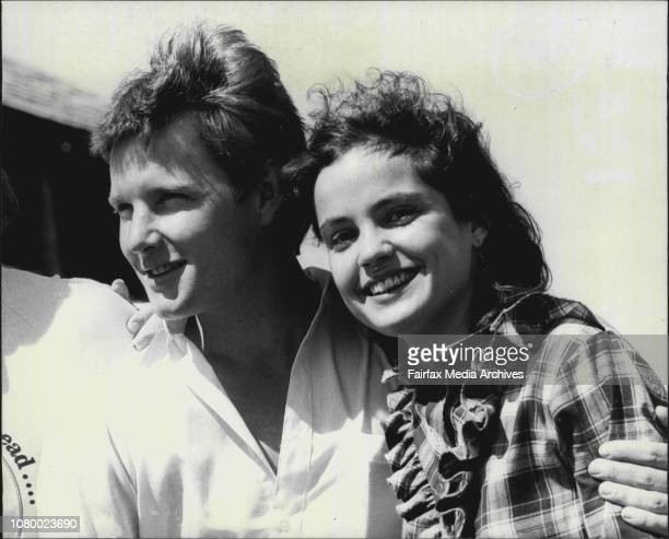 The Man From Snowy River Premiere at MansfieldTom Burlinson and Sigrid Thornton on the property where the movie was shot March 22 1982