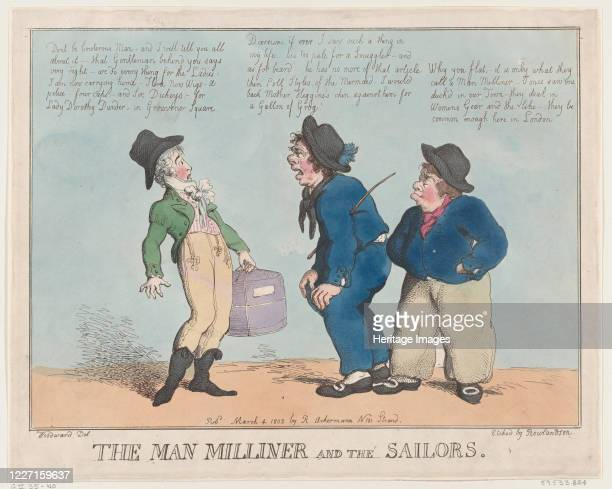 The Man Milliner and the Sailors March 4 1802 Artist Thomas Rowlandson