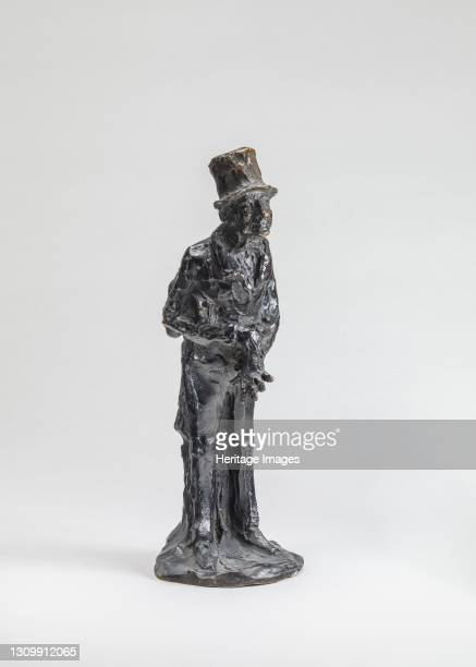 The Man of Affairs , model probably after 1860, cast around June 1951. Artist Unknown. .