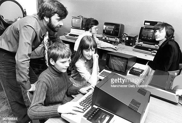 The man on the right is playing �Space Invaders�