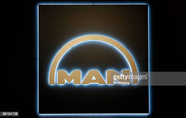 The MAN SE logo is seen in Munich, Germany, on Thursday, April 1, 2010. MAN SE, Europe's third-biggest truckmaker, aims to expand from Brazil to...