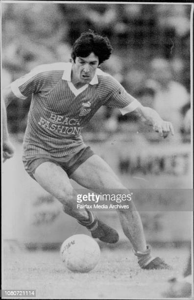 The Man Who Can Do No Wrong Sydney Olympic striker Marshall Soper on the ball during yesterday's Olympic Airways Cup final against Preston at St...