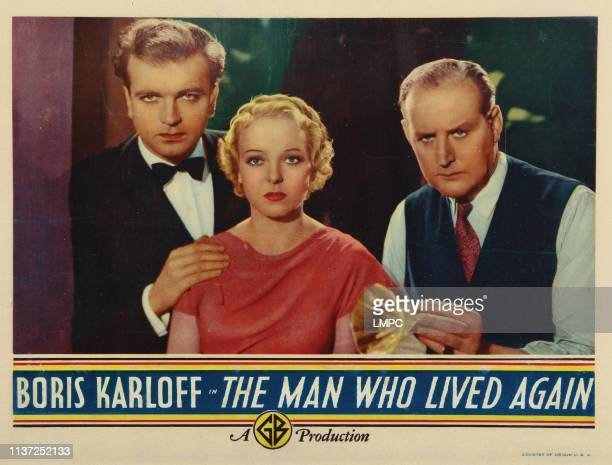The Man Who Changed His Mind lobbycard from left John Loder Anna lee Cecil Parker 1936