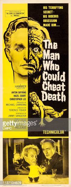The Man Who Could Cheat Death poster US poster art from left Anton Diffring Hazel Court 1959