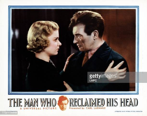 The Man Who Reclaimed His Head lobbycard from left Joan Bennett Claude Rains 1934