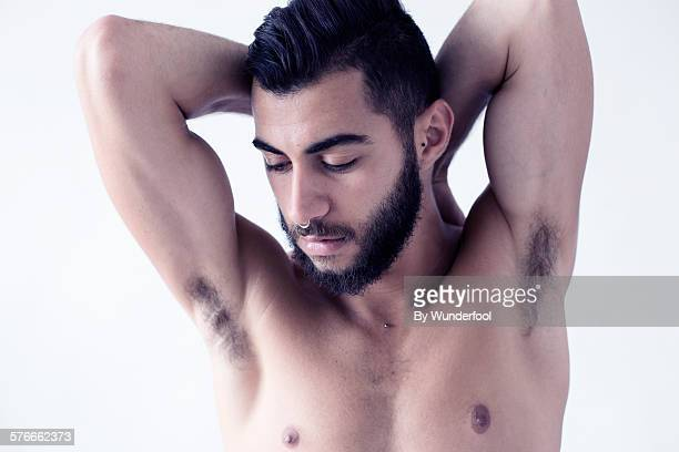 the man with beard - male armpits stock pictures, royalty-free photos & images