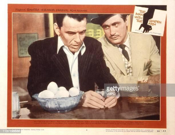 The Man With The Golden Arm lobbycard Frank Sinatra Darren McGavin 1955