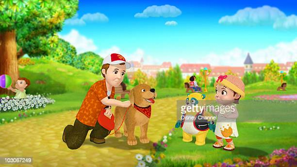 OSO 'The Man with the Golden Retriever' Special Agent Oso shows Elsa how to safely acquaint herself with a new dog This episode of Playhouse Disney's...