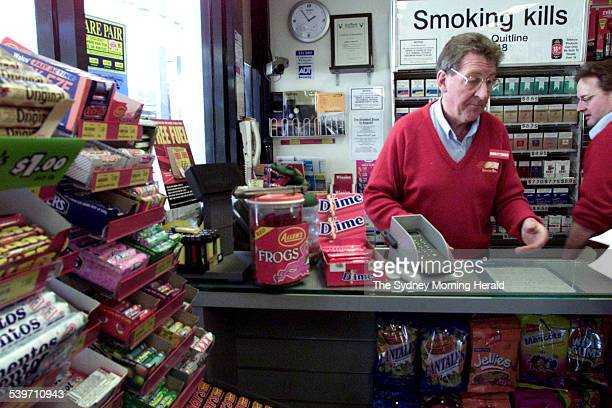 The manager of the Ampol Service station Tony Devery in his shop at Longueville Tony has reported that takings go down when petrol prices go up 21...
