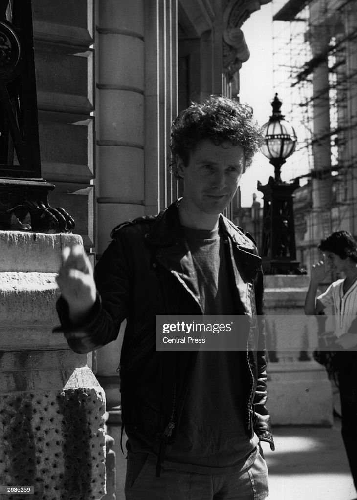 The manager of the punk rock band, the 'Sex Pistols', Malcolm McLaren, outside the Bow Street Magistrates Court, where he is facing a Breach of the Peace case.