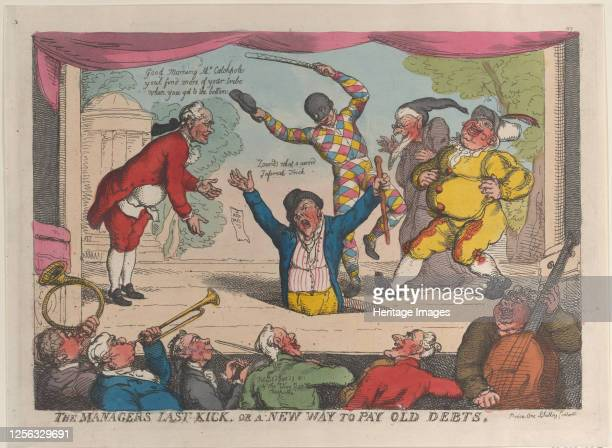 The Manager's Last Kick or a New Way to Pay Old Debts September 29 1811 Artist Thomas Rowlandson