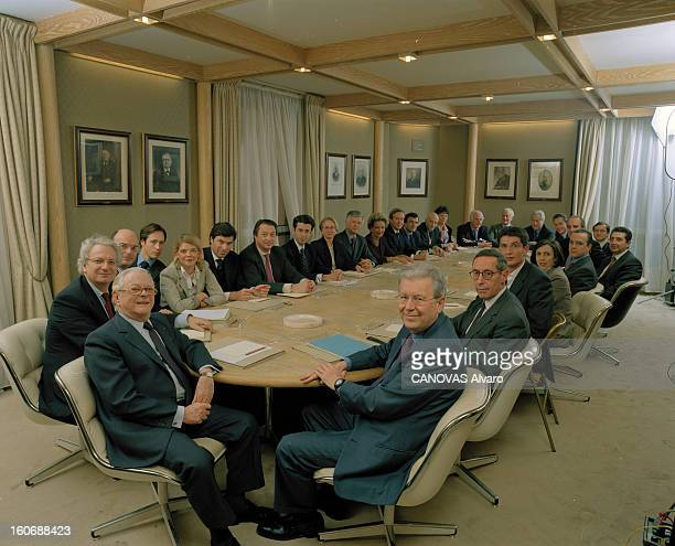 The Managers Of Bank Lazard Meeting For The First Time In The History At Their Fourth Floor Of Paris Head Office In Boulevard Haussmann In The Famous...