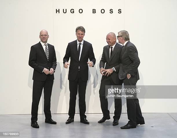 GERMANY METZINGEN The Managing Board of Hugo Boss AG from left Mark LANGER Chief Financial Officer ClausDietrich LAHRS CEO chief executive officer...