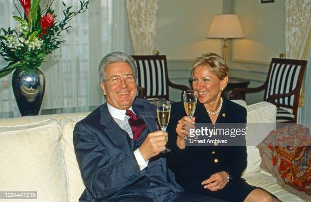 The managing couple of the Adlon Hotel, Marylea and Gianni Jean K van Daalen at the White Room in Berlin, Germany, 2002.