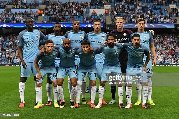 The Manchester City starting XI Ivorian midfielder Yaya Toura Nigerian striker Kelechi Iheanacho Brazilian midfielder Fernando Serbian defender...