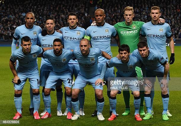 The Manchester City starting XI Manchester City's Brazilian midfielder Fernando Manchester City's French midfielder Samir Nasri Manchester City's...