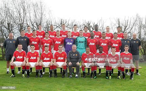 The Manchester United Reserve Team Back row Marnick Vermijl Michael KeaneReece Brown Sean McGinty Tom Thorpe Alberto Massacci Paul Pogba Michele...