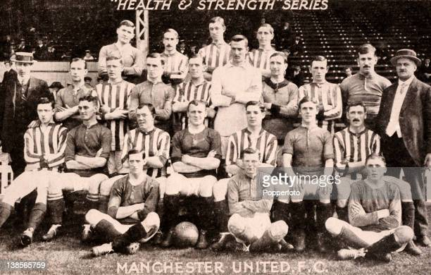 The Manchester United squad featured on a 'Health Strength' postcard prior to the 191112 season The team was captained by Charlie Roberts Also seated...