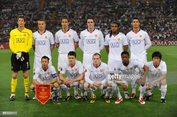The Manchester United team group before the start of the UEFA Champions League Final match between Barcelona and Manchester United at the Stadio...