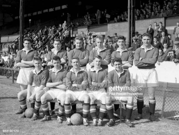 The Manchester United youth team before the FA Youth Cup semifinal 1st leg between Chelsea and Manchester United at Stamford Bridge in London 16th...
