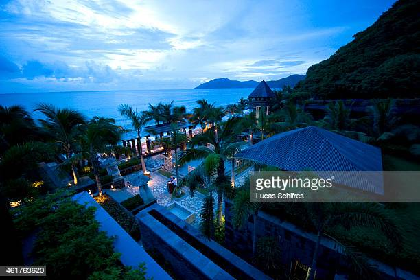 The Mandarin Oriental hotel resort lays on Dadonghai bay by the coast on August 15 2010 in Sanya Hainan province China Sanya is the southernmost city...