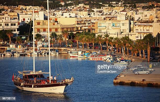 The Mandraki Harbour is seen on July 16 2009 in Kos Greece