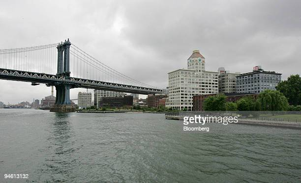 The Manhattan Bridge left and the DUMBO area of Brooklyn are seen on Wednesday June 13 in New York Brooklyn's heritage is threatened by plans to...