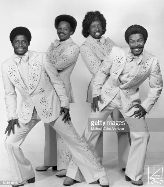 The Manhattans pose for a portrait circa 1977 in New York, New York.