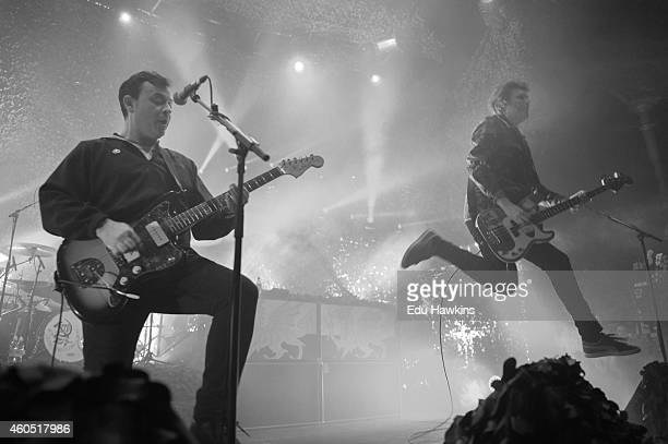 The Manic Street Preachers perform on stage at The Roundhouse on December 15 2014 in London United Kingdom