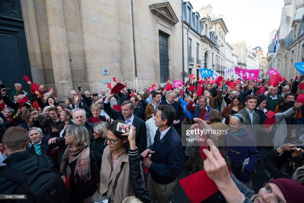 Demonstration In Paris Against Medically Assisted Reproduction
