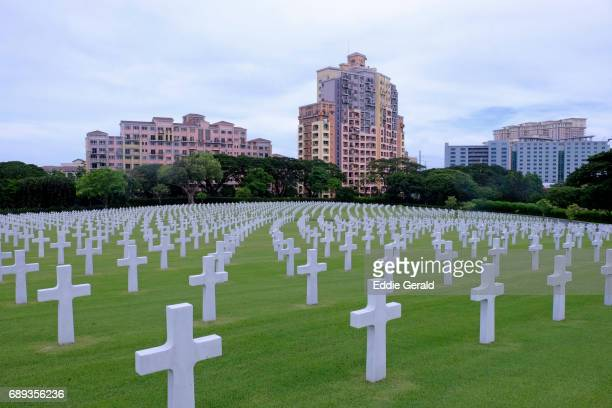 the manila american cemetery in manila - グレーターマニラエリア ストックフォトと画像