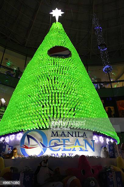 The Manila Ocean Park beautiful environmentallyfriendly Chrismas Tree at Convourse Plaza inside the Manila Ocean Through the partnership of Pepsi...
