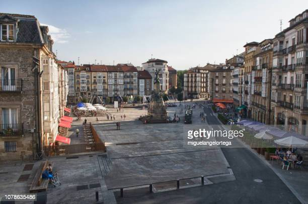the manin square at vitoria, the capital of alava - vitoria spain stock pictures, royalty-free photos & images