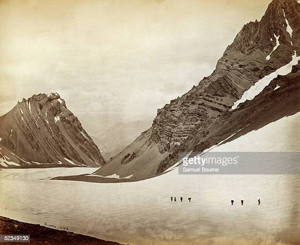 The Manirang Pass between the Spiti Valley and the Ropa Valley of Kinnaur District in India circa 1866
