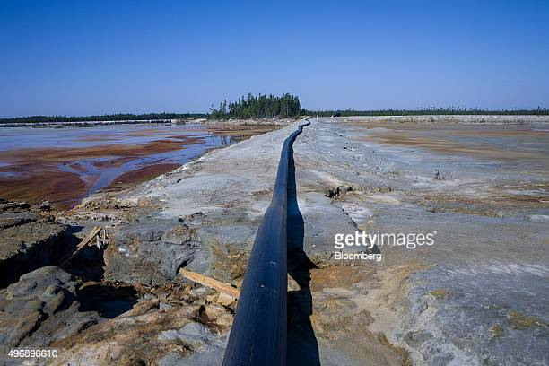 The Manitou site which was mined for zinc and copper between 1942 and 1979 stands in Val d'Or Quebec Canada on Thursday Sept 17 2015 After tumbling...