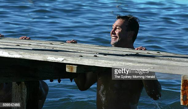 The Manly Sea Eagles recovery session at North Narrabeen pool Picture shows Terry Hill 14 March 2005 SMH Picture by ROBERT PEARCE