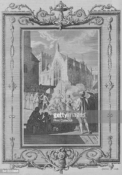 The Manner of Burning the Martyrs during the Bloody Reign of Queen Mary' 1783 The execution of former Archbishop of Canterbury Thomas Cranmer outside...