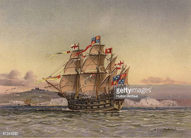 1488 The manofwar Henry Grace de Dieu or Great Harry the largest ship built in England during the reign of Henry VII It carried 72 guns and 700 men...