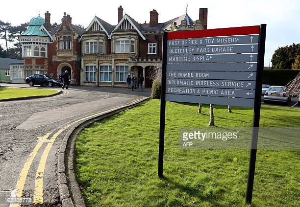 The Mansion House at Bletchley Park in Milton Keynes north of London on February 20 2013 AFP PHOTO/POOL/CHRIS RADBURN
